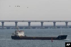 Корабль в Азовском море