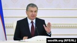 Ўзбекистон президентиШавкат Мирзиёев.