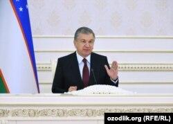 Өзбекстанның президенті Шавкат Мирзияев.