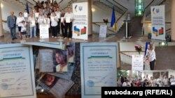 Випускники курсів української мови в Мінську отримали відповідні сертифікати (фото комбіноване)