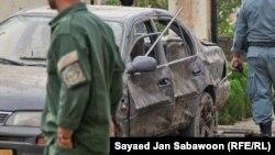 Наслідки вибуху біля офісу приватної охоронної компанії в Кабулі, 10 липня 2010 року