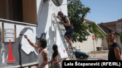 Islikavanje murala po nikšićkim zidovima