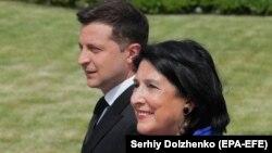 Владимир Зеленский и Саломе Зурабишвили