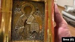Икона Николая Чудотворца, подаренная Милорадом Додиком Сергею Лаврову и впоследствии возвращенная Россией в Боснию и Герцеговину