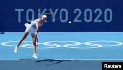 Елена Рыбакина Токио олимпиадасында. 24 шілде 2021 жыл.