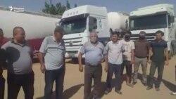 Обращение водителей цементовозов к президенту Мирзияеву