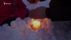 Праздник снежных фонарей в Казани. Активисты пытаются защитить Гавриловскую рощу
