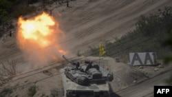 Foto: Vojska Južne Koreje vežba u blizini dimilitarizovane zone (AFP)