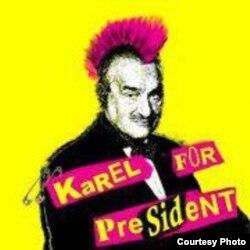 Poster electoral al lui Karel Schwarzenberg.
