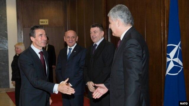 Rasmussen sa političkim liderima u Sarajevu, 7. februar 2013.