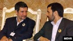 President Mahmud Ahmadinejad with senior advisor Mojtaba Samareh-Hashemi