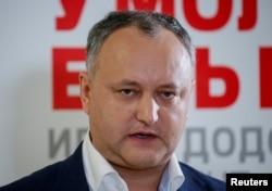 Presidential frontrunner Igor Dodon (file photo)
