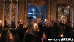 Священный огонь из Иерусалима, Церковь Святого Стефана, Стамбул, Йешилкей, 2015 год