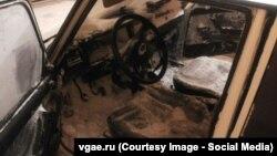 Автомобиль после метели на трассе Оренбург – Орск
