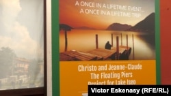"""Christo și """"Cheiul plutitor"""" pe lacul Iseo în Italia"""