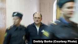Sergei Krivov, pictured here in detention before starting his hunger strike (file photo)