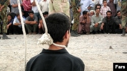 Iran usually executes prisoners by hanging