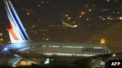 U.S. -- Air France Airbus 380, Flight 65, sits on the runway at the Salt Lake City International Airport being inspected by the FBI in Salt LAke City, Utah, November 17, 2015