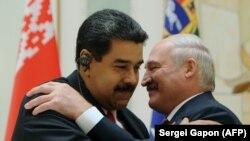 Аляксандар Лукашэнка і Нікалас Мадура, архіўнае фота