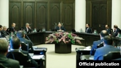 Armenia -- A cabinet meeting in Yerevan, 30 March, 2020.