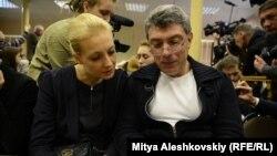 Борис Немцов и супруга Алексея Навального Юлия