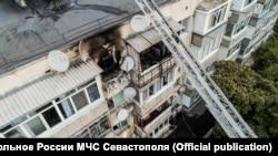 Пожежа в житловому будинку в Качі, Севастополь