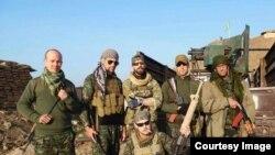 مجموعة من المقاتلين الاجانب مع القوات الكردية في سوريا، 20 شباط 2015