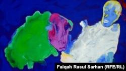 لوحة للفنان علي النجار