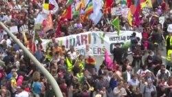 """Marș pașnic la Hamburg: """"Solidaritate fără frontiere în loc de G20"""""""