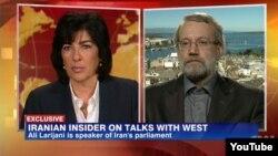 علی لاریجانی، رئیس مجلس ایران در مصاحبه با کریستین امانپور از شبکه سیانان