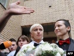 Moskvada homoseksuallar nikah qeydiyyatı idarəsindən çıxır