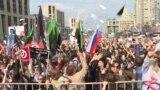 Russians Protest Effort To Block Telegram Messaging App video grab