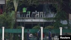 Кафе Holey Artisan Bakery в Дакке, Бангладеш, на которое напали террористы