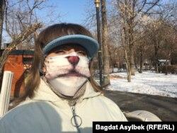 Организатор митинга в защиту животных Наталья Шамсутдинова. Алматы, 21 ноября 2020 года.