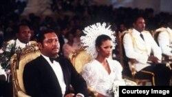 Haiti prezidenti Jean-Claude Duvalier və həyat yoldaşı Michèle Bennett