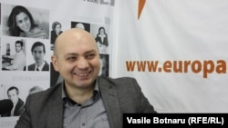 Правозащитник Сергей Остаф в Молдавской редакции Азаттыка. Кишинев, 23 ноября 2013 года.