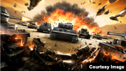 Постер к игре World of Tanks.