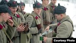 """""""Красноармейцы"""" в зимней форме одежды 1939 года. Военно-историческая реконструкция"""