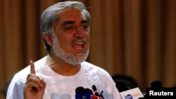 "While saying he won't accept ""fraudulent results,"" Afghan presidential candidate Abdullah Abdullah called for the country to remain united."
