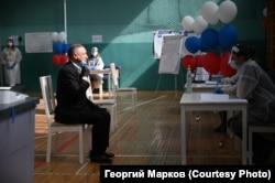 Александр Беглов во время голосования по поправкам к Конституции