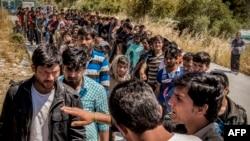 Біженці з Афганістану на грецькому острові Лесбос, 31 травня 2015 року