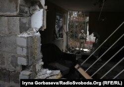 Разрушенный дом в Водяном, 1 ноября 2016 года