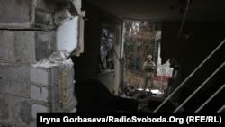 Зройнований дім у Водяному, Донецька область, 1 листопада 2016 року