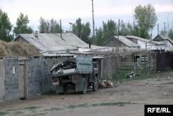 Село Сарыжал, расположенное недалеко от Семипалатинского ядерного полигона. Восточно-Казахстанская область, август 2009 года.