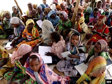 Aid groups fear they won't be able to help the millions of Darfur refugees, many of whom are in desperate circumstances.