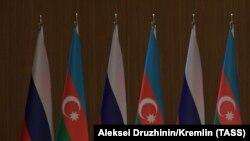 Ռուսաստանի և Ադրբեջանի դրոշները, արխիվ