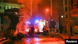 Фотография с места взрыва в Стамбуле