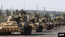Колона українських танків у Донецькій області, 3 вересня 2014 року