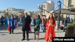 Azerbaijan - President Ilham Aliyev and his wife Mehriban attend Nowruz celebrations in Baku, 19Mar2014.