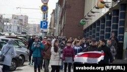 У Віцебску на акцыю ў Дзень Волі выйшла больш за 150 чалавек
